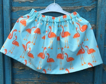 kids clothing, handmade, girls clothing, bespoke, flamingos, age 4, made to order