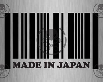 """Made in Japan Decal 8"""" x 4.5"""" - Catostylus Decals"""