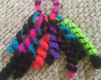 Crochet pony tail holders