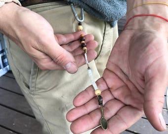 Detachable mini spoon keychain