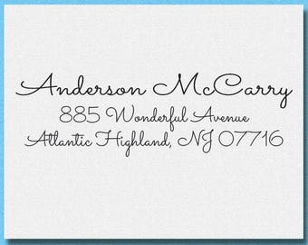 Personalized Handwriting Return Address Stamp, Invitation Address Stamp, Calligraphy Return Address Stamp, Housewarming Gift