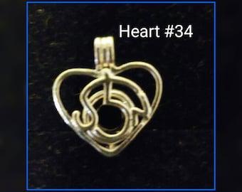 Heart pendant cage