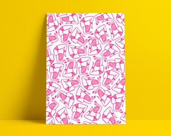 Pincha Party Pink A3 Screenprint