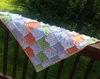 Minky backed baby rag quilt