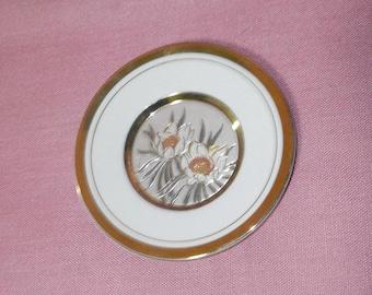 The art of Chokin, Simco artware, gold edged/small plate/China/Japan