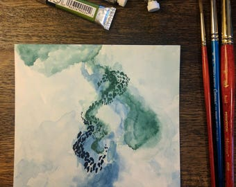Earthly Swirls Watercolor