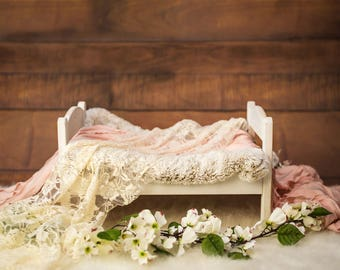 Baby Kid Backdrops Photography Background Wood Backdrops Small Bed HJ05434