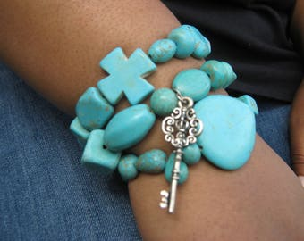 Charmed Turquoise Triple Stack