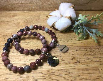Essential Oil Bracelet with Wanderer Charm
