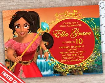 Elena Invitation - Elena of Avalor Invitation - Elena of Avalor Party Supplies