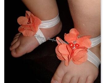 Orange Chiffon flowers