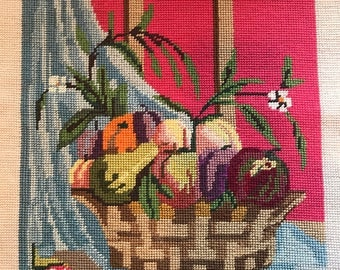 Vintage Fruit Still Life Needlepoint