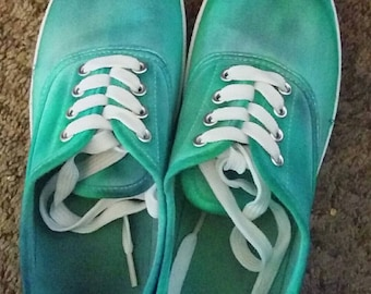Blue & Green Tie Dye Sneakers