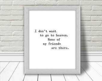Citation, Oscar Wilde, Art mural, Quote, Inspirational Quote, Printable Poster, Typography, Affiche Murale, Home decor, heaven, Download