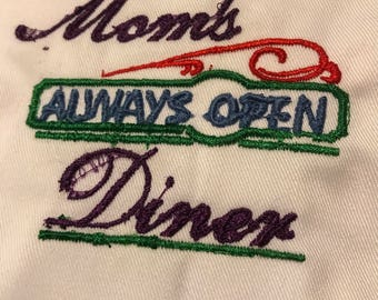 Moms Embroidered Apron