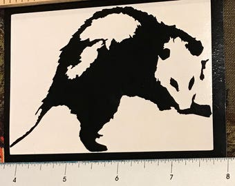 Opossum vinyl decal