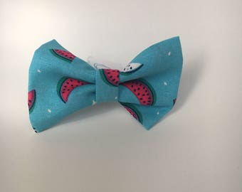 One In A Melon Pattern Dog Bow Tie