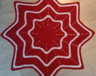 Star christmas tree skirt