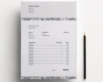 Simple Invoice Template Free Word Printable Invoice  Etsy Cloud Invoice Excel with Receipt For Beef Stew Excel Invoice  Excel  Google Sheets Receipt Template Invoice Design Billing  Template Chicken Curry Receipt Pdf