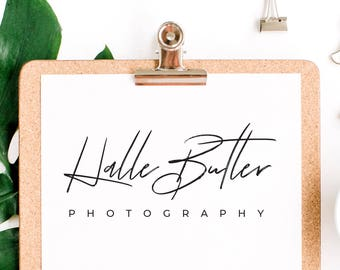 Photography Logo Design, Script Logo for Photographers, Modern Logo Business Branding, Vector Format Included, Easy Logo,  Blog Logo Premade
