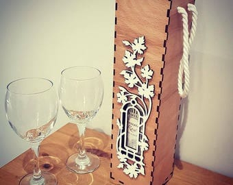 Laser cut & engraved Wine Box for weddings/Birthdays/anniversary.