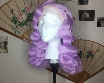 Purple hollywood glamour synthetic wig