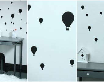 Hot air balloon stickers to dress up your walls