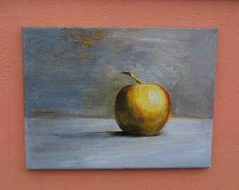 Original acrylic still-life painting on stretched canvas