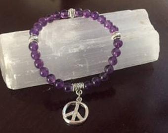 Amethyst Crystal Healing Bracelet