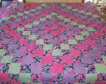 Pink & Purple Flower Quilt