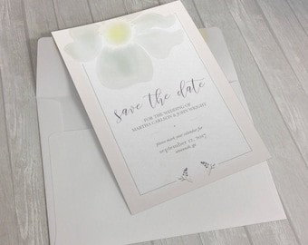 Save the Date! Customizable Watercolor Save the Date