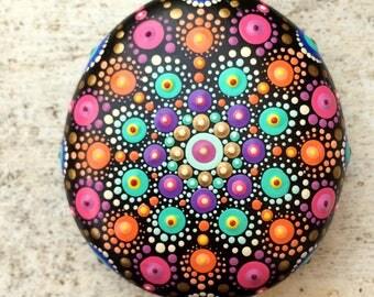 Hand Dotted Meditation Sea Stone