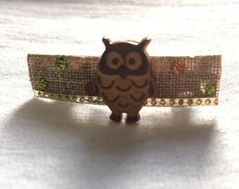 Gorgeous Handmade Owl Barrette!