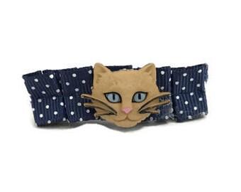 Kitty Cat Barrette, Cat Ears, Cat Ears Headband, Kitty Cat Hair Clip, Hello Kitty, Cat Lover Gift, Grumpy Cat, Barrette, Hair Bows, Bow
