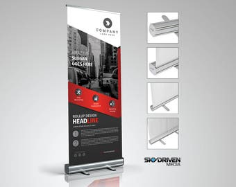 """Standard Retractable Banner Stand 33.5""""W x 80"""" H"""