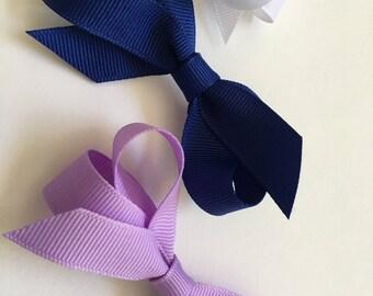 Hand-made Hair Bows Using Fine Grosgrain Ribbon