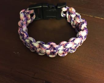 Pink and Purple  Cobra Bracelet