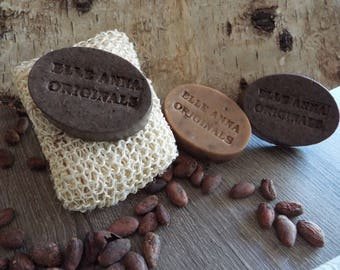 Chocolate loofa soap with Tanzanian cocoa