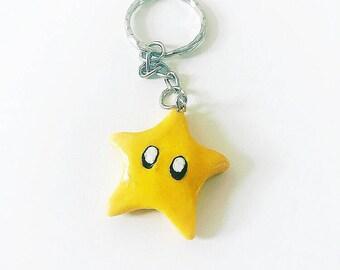 Super Mario Star key ring