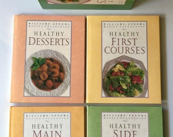 Williams Sonoma 4 Cookbooks in Slipcase:Basics Collection of Healthy Books HC/DJ