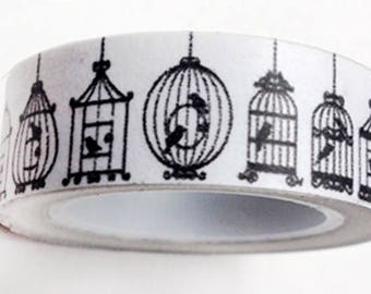 washi tape bird cage 15mm