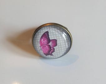"""""""Butterfly"""" bronze Adjustable ring"""