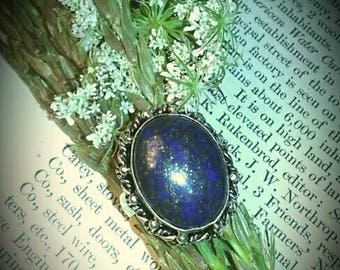 Natural Lapis Lazuli set in Sterling Silver Ring size 7.5