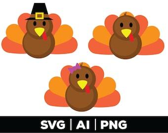Turkey svg - thanksgiving svg, fall svg, turkey clipart, turkey cut file, turkey face png, turkey day svg, turkey, thankful svg, autumn svg