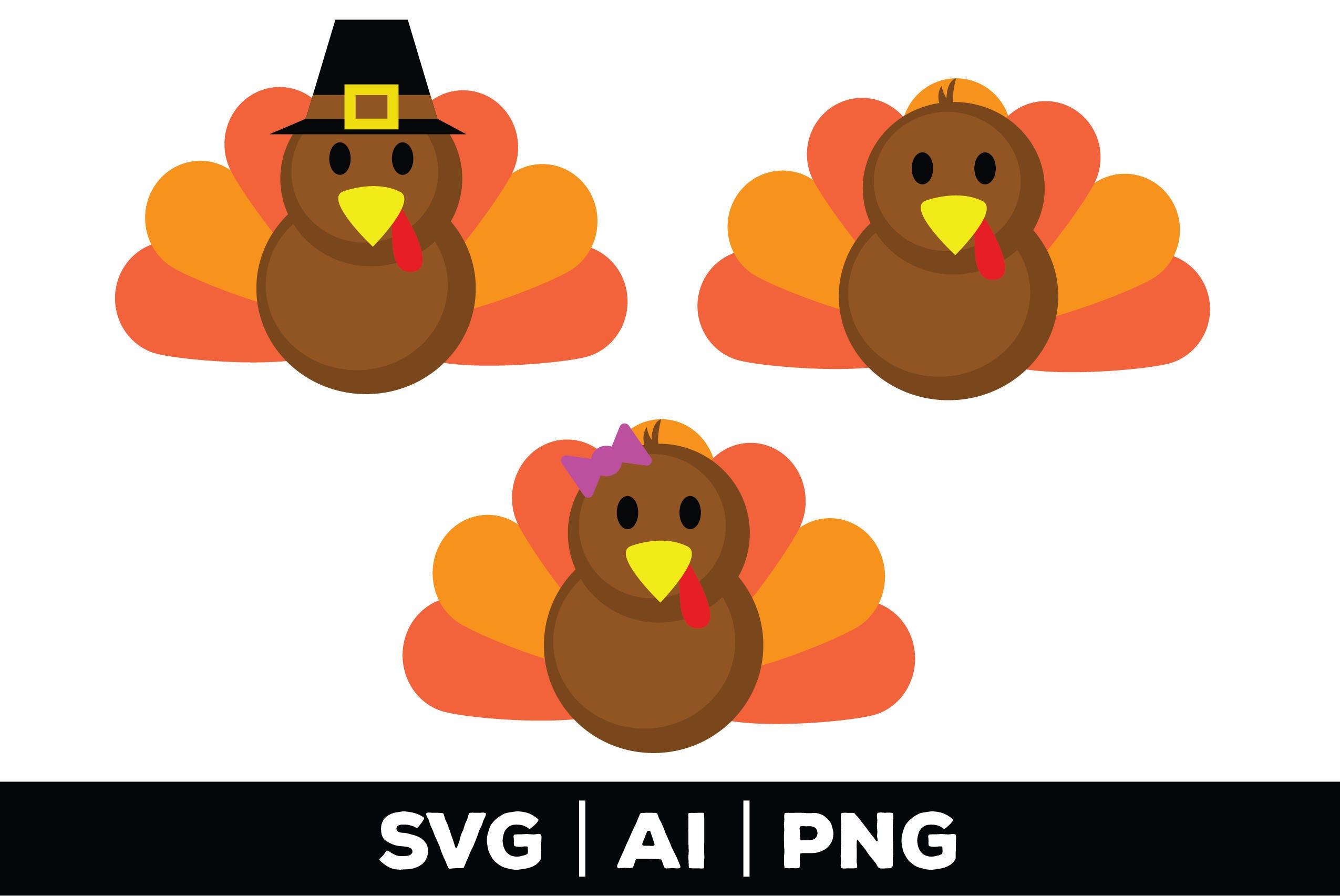 Turkey svg thanksgiving svg fall svg turkey clipart