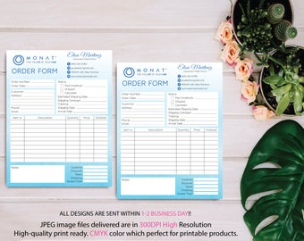 Monat Order Form, Monat Invoice Form, Custom Monat Hair Care Card, Monat Marketing, Fast Free Personalization, Monat Business Cards MN06