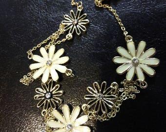 Floral Enamel Vintage Necklace by ZAD
