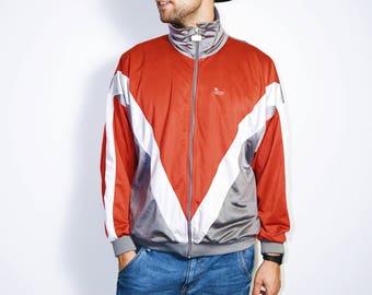 Vintage retro track jacket | The best 90s vintage sport jacket | HOT MILK | Size - M