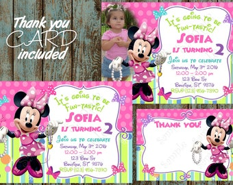 Minnie Mouse Invitation, Minnie Mouse Party, Minnie Mouse Birthday, Minnie Mouse Bowtique Invitation, Minnie Mouse Printable Invitation