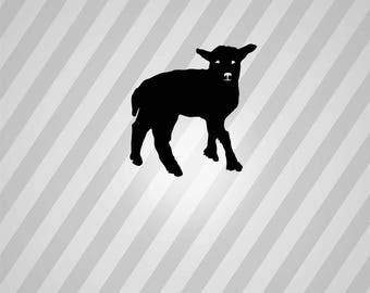lamb - Svg Dxf Eps Silhouette Rld RDWorks Pdf Png AI Files Digital Cut Vector File Svg File Cricut Laser Cut